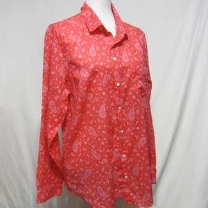 Old Navy Classic XL, button up paisley top